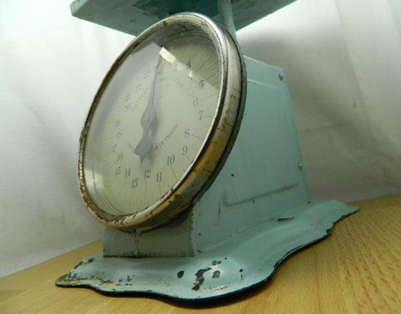 Antique Prudential Family Scale 1912 Baby Blue