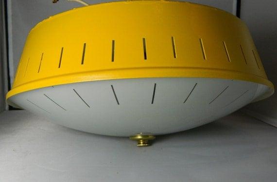 Mid Century Yellow 1950's Kitchen Light
