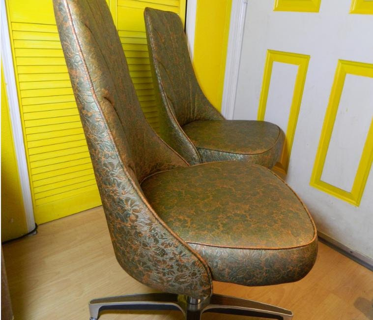 Two Retro 1960's Chromcraft Dining Chairs