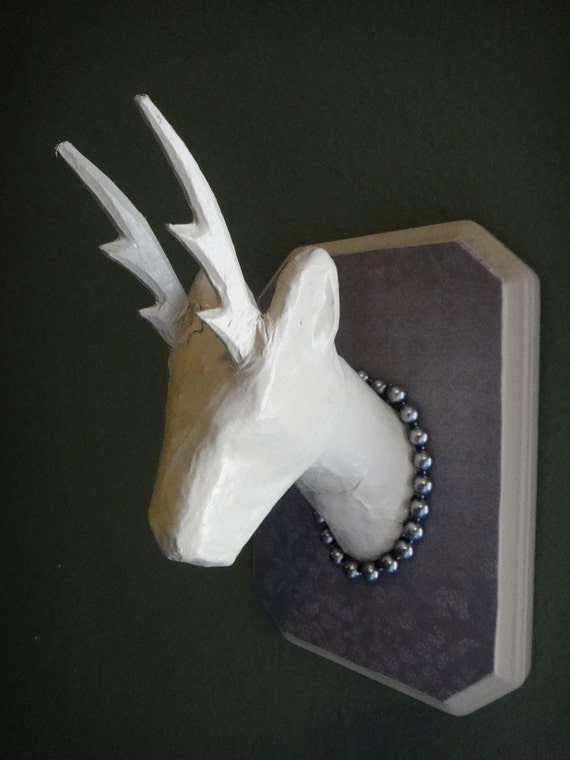 Faux Taxidermy Deer Mount Paper Mache Cruelty By
