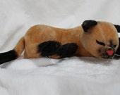 Vintage 1960s Dakin Siamese Cat Plush Toy