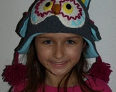 RESERVED for Petia - Children's Owl Hat