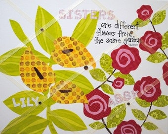 Memory Board Custom Made and Personalized Organizers 16X20 inch  Hand cut paper OOAK designs