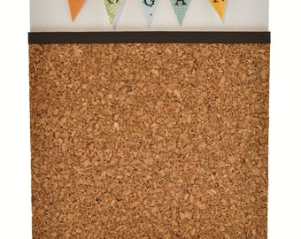Personalize and Custom Color 1.5 inch Triangles Pennant Name Flags 8X10 inch Cork Board Organizer