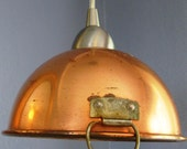 Copper Bowl Pendant Light