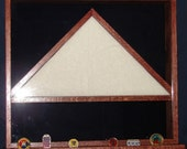 Rectangle Shadow Box with Flag in Center - Made to Order