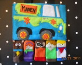 Felt Finger Puppet Set - Scooby Doo and the Gang with Mystery Machine Bag