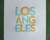 LA Print Blue & Yellow