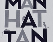 Manhattan Print Grey