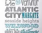 Jersey Shore Print  (ART-31Jersey)