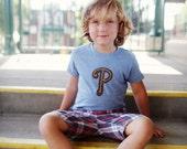 Philly Pretzel Kid Tee Blue