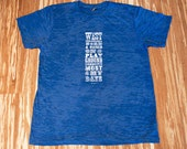 West Philly Adult T - White on Blue