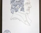 Abigail Adams First Lady Letterpress Print