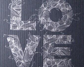 Love Print Black