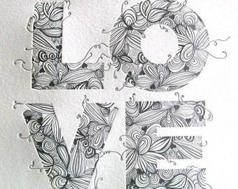 Love Print White