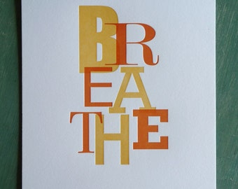 Breathe Print Orange