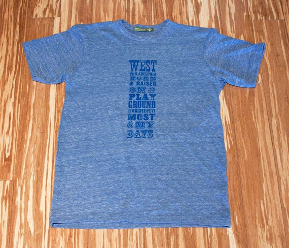 West Philly Adult T - Blue on Blue
