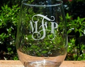 Stemless Monogrammed Wine Glass (set of 4)