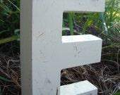 Architectural Salvage Letter E Metal Sign French Quarter Estate