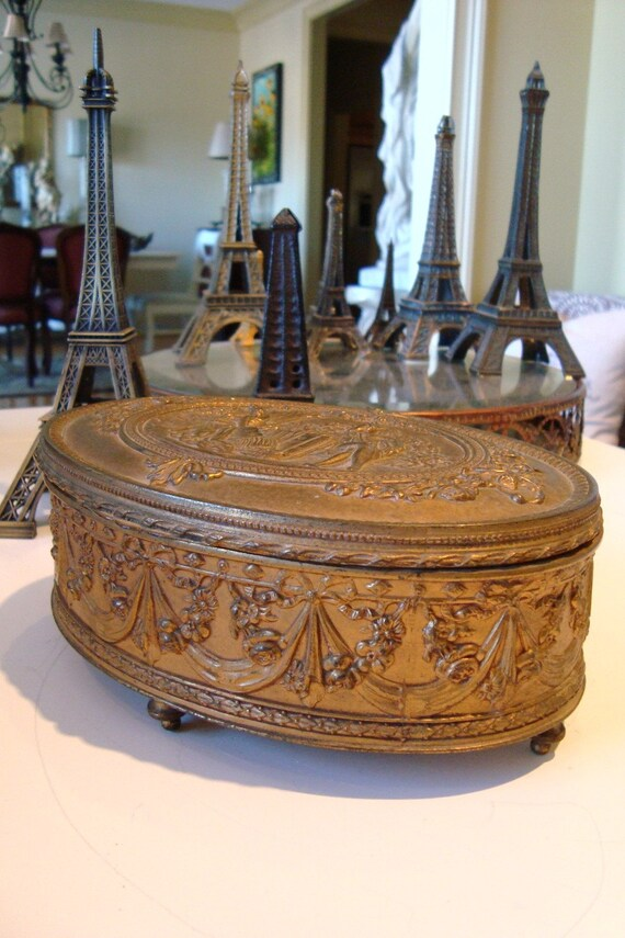 Antique Jewelry Casket Jennings Brothers 1915