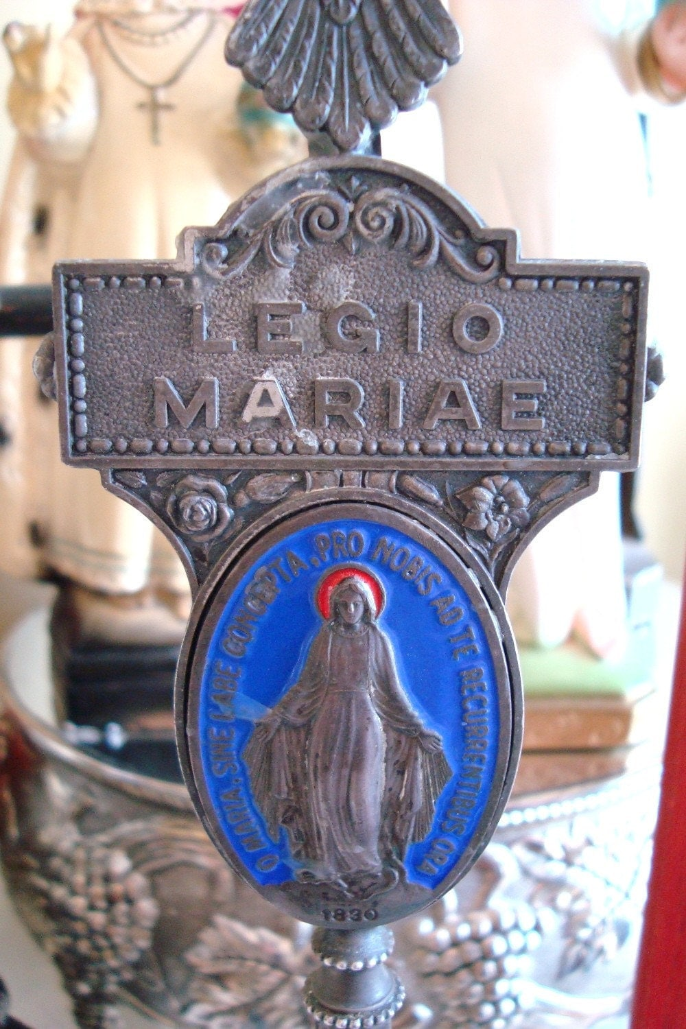 rare legion of mary icon statue and book