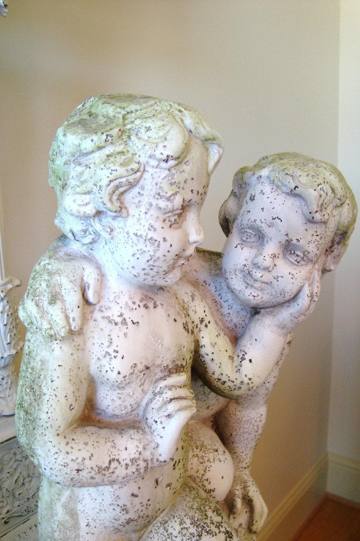Vintage Twin Cherubs Statue