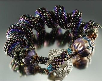 "The ""Bedazzled Spiral Cuff"" - Beading Kit designed by Barbara Briggs"