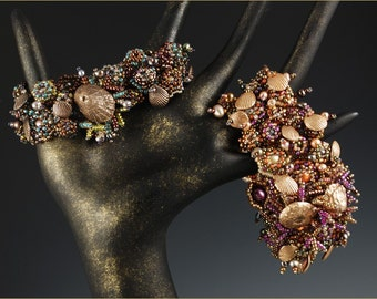 "The ""Tide Pool"" Cuff - Beading Kit designed by Barbara Briggs"