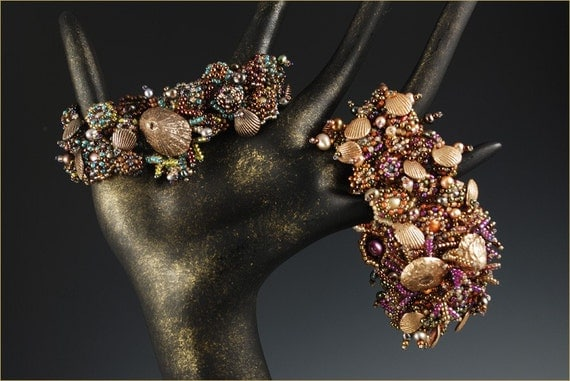 """The """"Tide Pool"""" Cuff - Beading Kit designed by Barbara Briggs"""