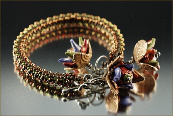 """The """"Rain Forest Flora"""" Bracelet - Beading Kit"""