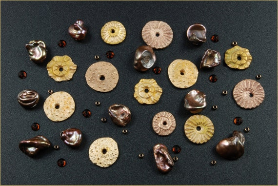 Reserved for Jane - A Collection of Lustrous Bronze Metal Clay Embellishments