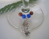 RAVENCLAW inspired wine glass charm ring (book colors)