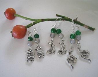 SLYTHERIN inspired earrings - Choose your snake