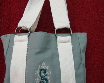 Monogrammed tiny tote