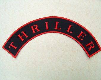 Custom embroidered Rocker patch for back of Jackets shirts top or bottom