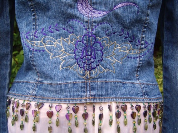 Reserve for Nadia  fairy denim jacket OOAK jean jacket