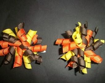 Thanksgiving, fall, autumn mini korker pair