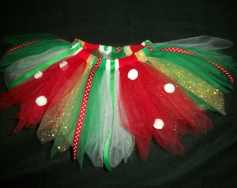 "Christmas tutu ""Little Elf"" custom made any size Newborn-4T"
