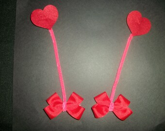 """Valentines Day heart antennae bows, """"Love Bug"""""""