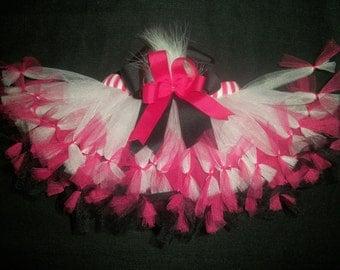 """Valentine's day tutu, """"Feathers and Frills"""" pettitutu custom made Newborn-4t"""