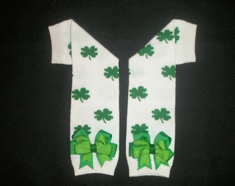 """St. Patrick's day legwarmers """"Irish Princess"""""""