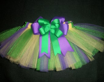 Mardi gras dog tutu, custom made up to a 12 inch waist