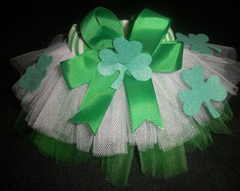 St. Patrick's Day dog tutu custom made up to a 12 inch waist