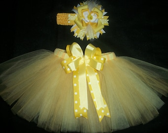 "Easter tutu set, ""Little Chick"" custom made up to a size 4t"