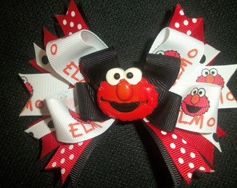 Elmo boutique hairbow