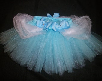 Cinderella tutu, blue princess cinderella inspired tutu custom made sizes Newborn-4t