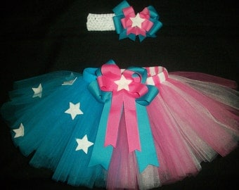 4th of July tutu set, American princess custom made in your choice of size Newborn-4t