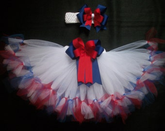 4th of July tutu set, Little Sparkler custom made in your choice of size Newborn-4t