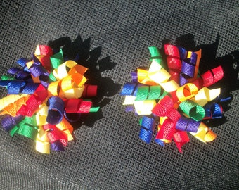 Rainbow colored mini korker pair