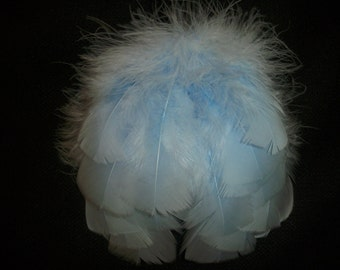 Newborn angel wings, baby blue boy angel wings